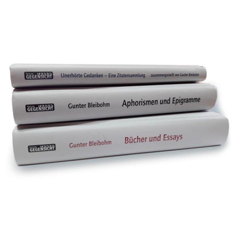Das Werk von Gunter Bleibohm – 3 Bände